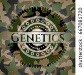 genetics on camo pattern | Shutterstock .eps vector #667081720