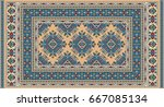 colorful oriental mosaic...   Shutterstock .eps vector #667085134