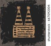 industry design on grunge... | Shutterstock .eps vector #667092004