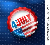 independence day 4 th july with ... | Shutterstock .eps vector #667092244