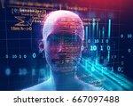 3d rendering of human  on...   Shutterstock . vector #667097488