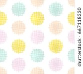 hand drawn pastel retro dot... | Shutterstock .eps vector #667118230
