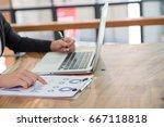 business people having meeting...   Shutterstock . vector #667118818