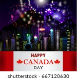 firework and vancouver city... | Shutterstock .eps vector #667120630