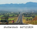 road in mexico | Shutterstock . vector #667121824