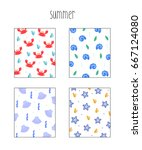 summer pattern illustration | Shutterstock .eps vector #667124080