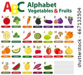 english alphabet for kids with... | Shutterstock .eps vector #667132504