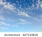 beautiful blue sky with clouds... | Shutterstock . vector #667133818