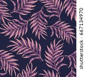tropical background with palm... | Shutterstock .eps vector #667134970