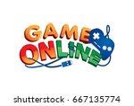 logo game online in vector