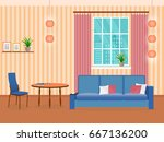 interior of living room design... | Shutterstock .eps vector #667136200
