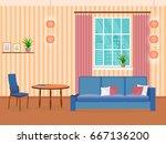 interior of living room design... | Shutterstock .eps vector #667136200