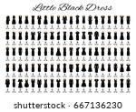 fashion little black dresses.... | Shutterstock .eps vector #667136230