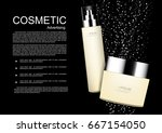 cosmetic products with small... | Shutterstock .eps vector #667154050