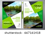 business brochure. flyer design.... | Shutterstock .eps vector #667161418