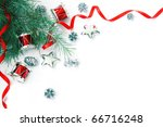 christmas decorations border.... | Shutterstock . vector #66716248