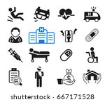 accidents and life insurance...   Shutterstock .eps vector #667171528
