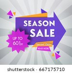sale banner design. vector... | Shutterstock .eps vector #667175710