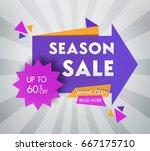 sale banner design. vector... | Shutterstock .eps vector #667175710