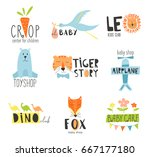 vector hand drawn set elements ... | Shutterstock .eps vector #667177180