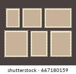 blank postage stamps frames set ... | Shutterstock .eps vector #667180159