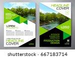 business brochure. flyer design.... | Shutterstock .eps vector #667183714