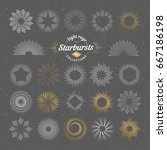 set of vector starbursts.... | Shutterstock .eps vector #667186198