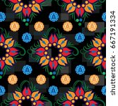 endless abstract pattern.... | Shutterstock .eps vector #667191334