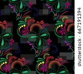 endless abstract pattern.... | Shutterstock .eps vector #667191394