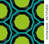 endless abstract pattern.... | Shutterstock .eps vector #667191820