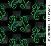 endless abstract pattern.... | Shutterstock .eps vector #667192048
