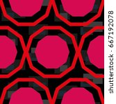 endless abstract pattern.... | Shutterstock .eps vector #667192078