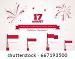 17 august. indonesia... | Shutterstock .eps vector #667193500