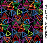 endless abstract pattern.... | Shutterstock .eps vector #667195468