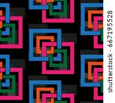 endless abstract pattern.... | Shutterstock .eps vector #667195528