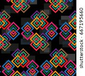 endless abstract pattern.... | Shutterstock .eps vector #667195660