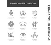 industrial revolution line icon   Shutterstock .eps vector #667199866