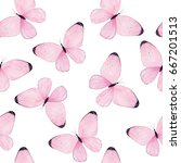 Watercolor Butterfly Seamless...