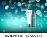 a beautiful cosmetic templates... | Shutterstock .eps vector #667201543