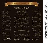 vector calligraphic design set. ... | Shutterstock .eps vector #667205854