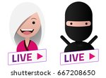 live stream white sign with... | Shutterstock .eps vector #667208650