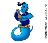 workman genie | Shutterstock . vector #667216270