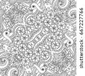 vector abstract nature line art ...   Shutterstock .eps vector #667227766