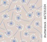 dandelion isolated on white... | Shutterstock .eps vector #667231324