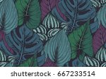 vector seamless pattern with...   Shutterstock .eps vector #667233514