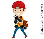 vector illustration of... | Shutterstock .eps vector #667233934