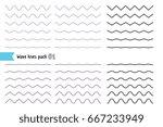 vector big set of wavy   curvy... | Shutterstock .eps vector #667233949