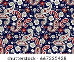 seamless paisley pattern | Shutterstock .eps vector #667235428