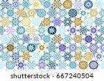 seamless geometric patterns set.... | Shutterstock .eps vector #667240504