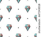 abstract modern geometric... | Shutterstock .eps vector #667243018